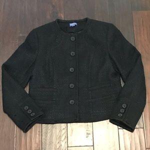 EUC Pendleton Black Textured Wool Blazer Size 14